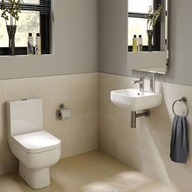 RAK Series 600 Cloakroom Suite - Close Coupled WC & 40cm Hand Basin