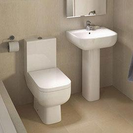 RAK Series 600 WC PAK with Soft Close Seat + 1TH Basin