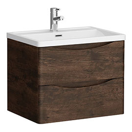 Ronda Chestnut 600mm Wide Wall Mounted Vanity Unit