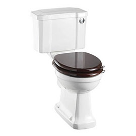 Burlington Rimless Close Coupled WC with 440mm Front Push Button Cistern