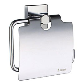 Smedbo House - Polished Chrome Toilet Roll Holder with Lid - RK3414
