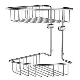 Smedbo House - Polished Chrome 2-Tier Corner Soap Basket - RK377