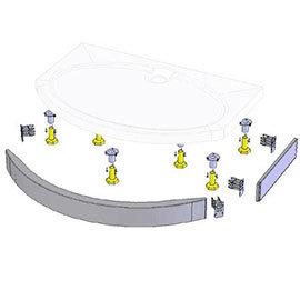 Coram - Bow Front Slimline Tray Riser Kit - RKASTS12