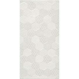 Arden White Linen Effect Hexagon Decor Wall Tiles - 30 x 60cm