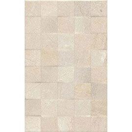 Loreno Light Cream Gloss Mosaic Tiles - 25 x 50cm