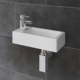Rondo Wall Hung Small Cloakroom Basin Package