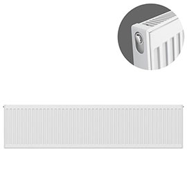 Type 11 H300 x W1600mm Compact Single Convector Radiator - S316K