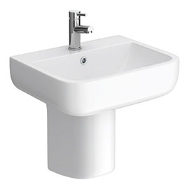 RAK Series 600 52cm Basin + Half Pedestal