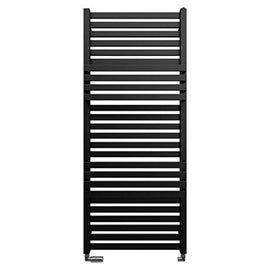 Bauhaus Seattle Towel Rail - 500 x 1185mm - Metallic Black Matte