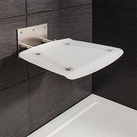 Crosswater - Square Wall Mounted Folding Shower Seat