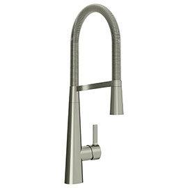 Bristan Saffron Professional Kitchen Sink Mixer with Pull Out Spray - Brushed Nickel - SFF-PROSNK-BN