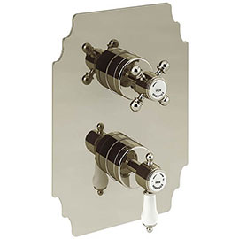 Heritage Glastonbury Twin Concealed Shower Valve - Vintage Gold - SGA03