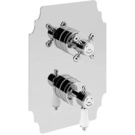 Heritage Glastonbury Twin Concealed Shower Valve with Two Outlet Diverter - Chrome - SGC04