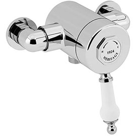 Heritage Glastonbury Exposed Sequential Shower Valve with Bottom Outlet Connection - Chrome - SGCB03