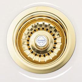 Shaws of Darwen Basket Strainer Sink Waste - Gold Plated - SHA-BSW-GLD