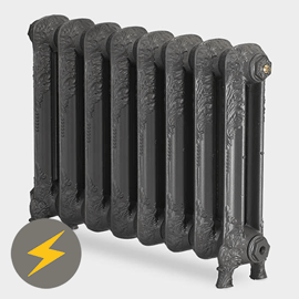 Paladin Shaftsbury 540mm High 6 Section Electric Cast Iron Radiator with 900w Heating Element