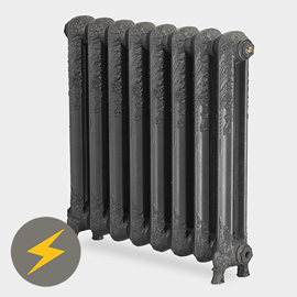 Paladin Shaftsbury 740mm High 7 Section Electric Cast Iron Radiator with 2000w Heating Element