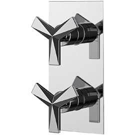 Heritage Hemsby Dual Control Recessed Valve - Chrome