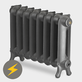 Paladin Sloane 450mm High 7 Section Electric Cast Iron Radiator with 1200w Heating Element