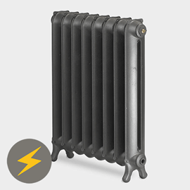 Paladin Sloane 750mm High 9 Section Electric Cast Iron Radiator with 2000w Heating Element