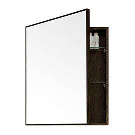 550mm Slimline Mirror Cabinet Dark Oak