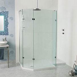 Roman Sculptures 1700 x 700mm Angled Walk-In Shower Enclosure
