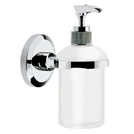Bristan - Solo Wall Mounted Frosted Glass Soap Dispenser - SO-SOAP-C