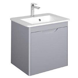 Crosswater - Solo Wall Hung Single Drawer Vanity Unit and Basin - Quartz