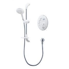 Triton T300si 9.5kw Remote Electric Shower - White/Chrome