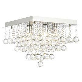 Forum Orlando 30cm Square Flush Ceiling Light Fitting - SPA-24467-CHR