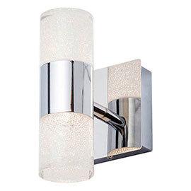 Forum Oslo Chrome LED Crackle Wall Light - SPA-31730-CHR