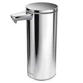 simplehuman Rechargeable Liquid Sensor Pump Soap Dispenser - Polished Steel - ST1044