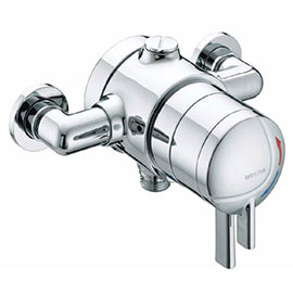Bristan - Stratus Thermostatic Dual Control Exposed Shower Valve with Chrome Levers - STR-TS1875-EDC-C