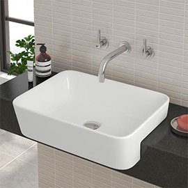 Salou Semi Recessed Basin 0TH - 480 x 375mm