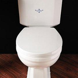 Silverdale White Soft-Close Thermoset Toilet Seat