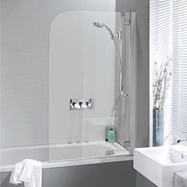 Crosswater Supreme Deluxe Bath Screen - Silver - 2 Size Options