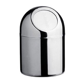 Stainless Steel 1.35 Litre Mini Push Top Bin - 1600117