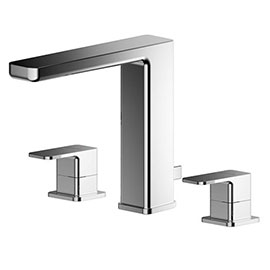 Asquiths Tranquil Deck Mounted Basin Mixer (3TH) With Pop-Up Waste - TAD5117