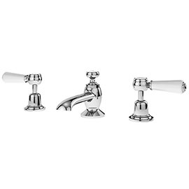 Asquiths Restore Lever 3TH Deck Basin Mixer With Pop-up Waste - TAF5317