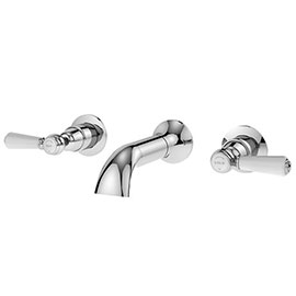 Asquiths Restore Lever 3TH Wall Bath Filler - TAF5322
