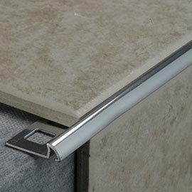 Tile Rite 10mm Quadrant Round Edge Metal Tile Trim - Silver