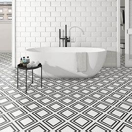 Tetra Grid Wall and Floor Tiles - 200 x 200mm