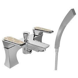Heritage Lymington Lace Gold Bath Shower Mixer - TLYCG02