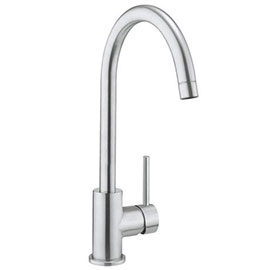 Crosswater Tropic Side Lever Kitchen Mixer - Brushed Stainless Steel
