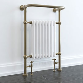 Savoy Antique Bronze Traditional Heated Towel Rail