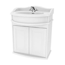 Miller - Traditional 1903 65 Wall Hung Two Door Vanity Unit with Ceramic Basin