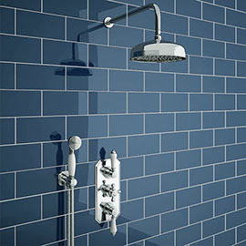 Trafalgar Traditional Triple Thermostatic Shower Package with Head + Handset