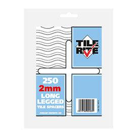 Tile Rite 2mm Long Leg Tile Spacers (Pack of 250)