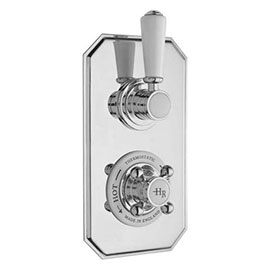Hudson Reed Topaz Twin Concealed Thermostatic Shower Valve - TSVT002