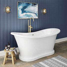 Trafalgar 1685 x 745 Double Ended Slipper Roll Top Bath